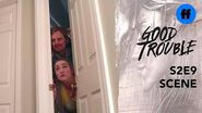 Good Trouble Holiday Special Dennis and Davia Get Stuck Freeform