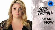 Good Trouble Zuri Adele and Emma Hunton on Privilege Freeform