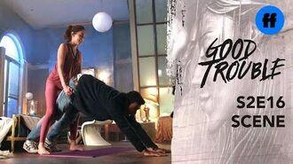 Good Trouble Season 2, Episode 16 Raj & Isabella Do Downward Dog Freeform