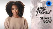 Good Trouble Zuri Adele on Media Representation Freeform