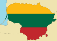 Blank Map of Lithuania