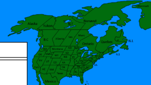 USA and Canada With States