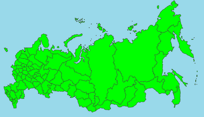 State map of Russia