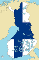 Blank Map of Finland