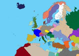 High detalied map of europe - Kopie