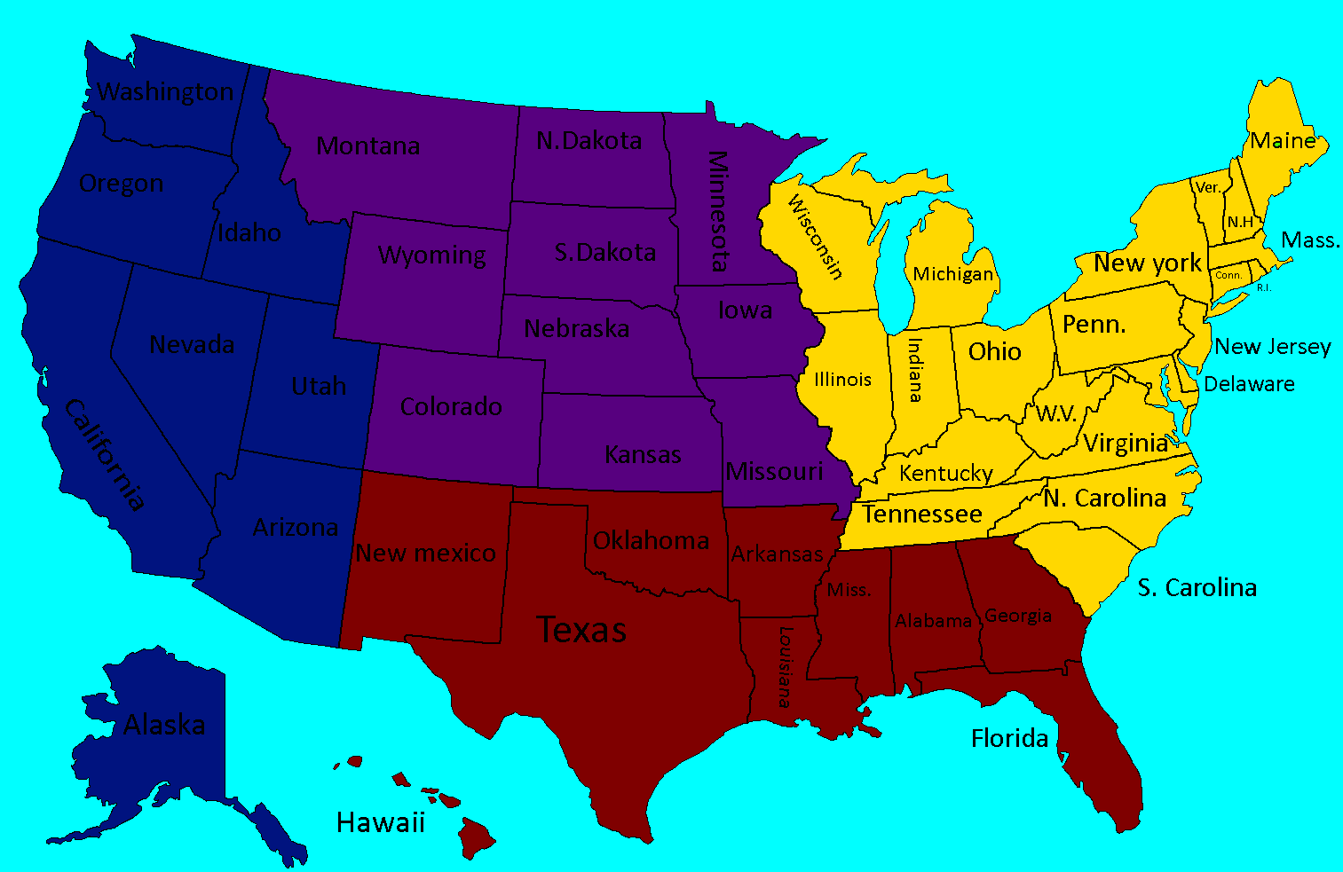 Clash of Ideologies America Map Game