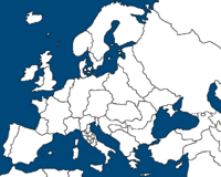 Simple Map of Europe
