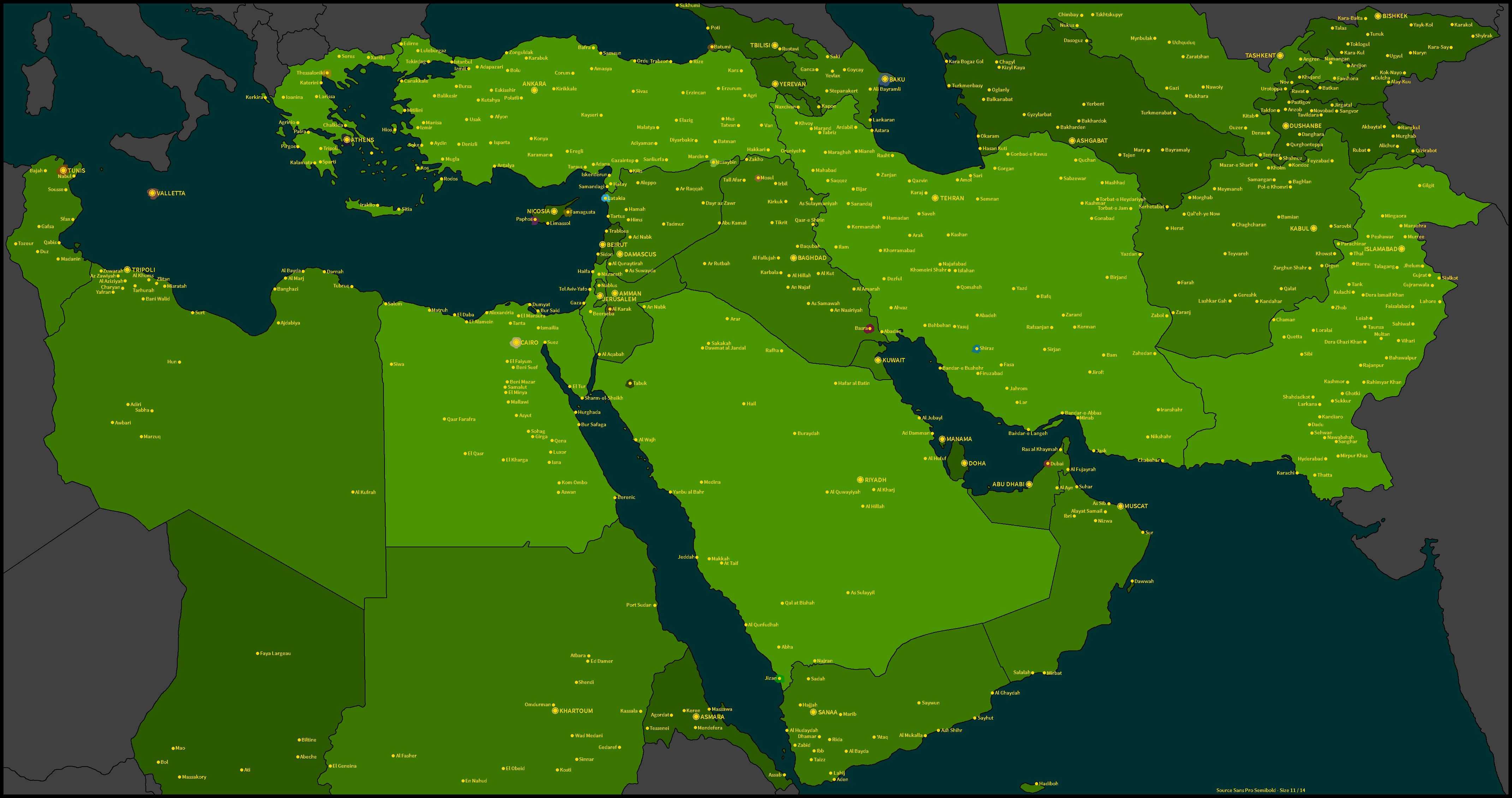 Insurgency Middle East Map Game TheFutureOfEuropes Wiki - Middle east map dushanbe