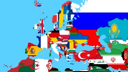 Europflagmap