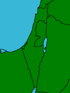 Israel and surronding countries map