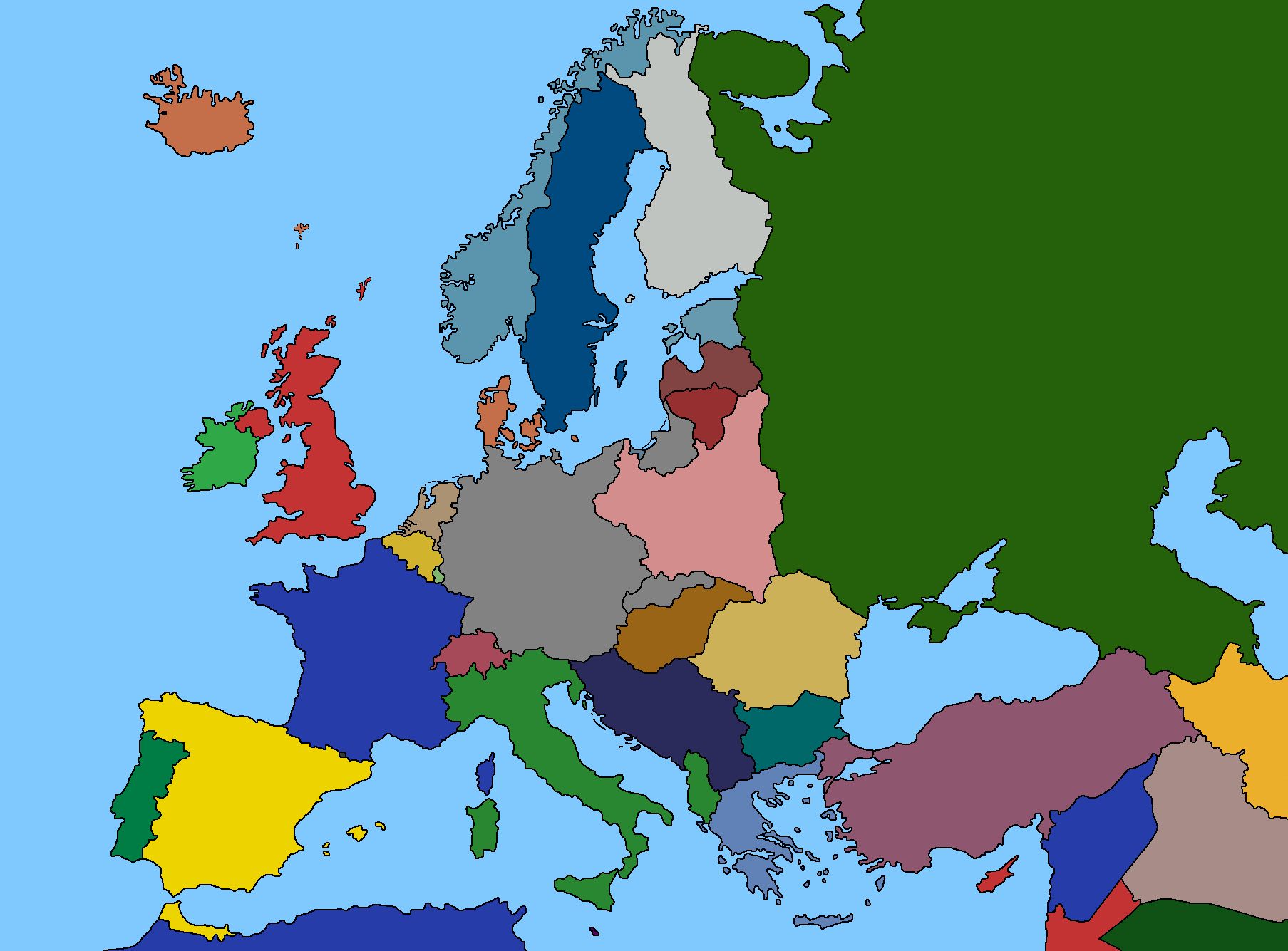 1939 Europe Map 1939 Europe Map | World Map Gray