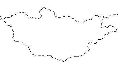 Blank map of Mongolia