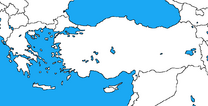 Blank map of greece and turkey by dinospain-d85oij5