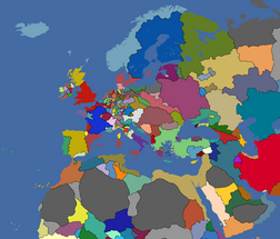 Map of Europe 1444 EU4