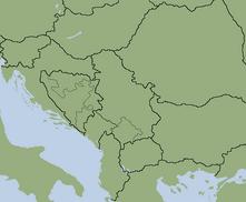 Balkan map blank