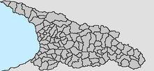 Georgian provinces map blank