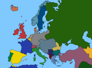 Map of Europe 1914 by Relicure
