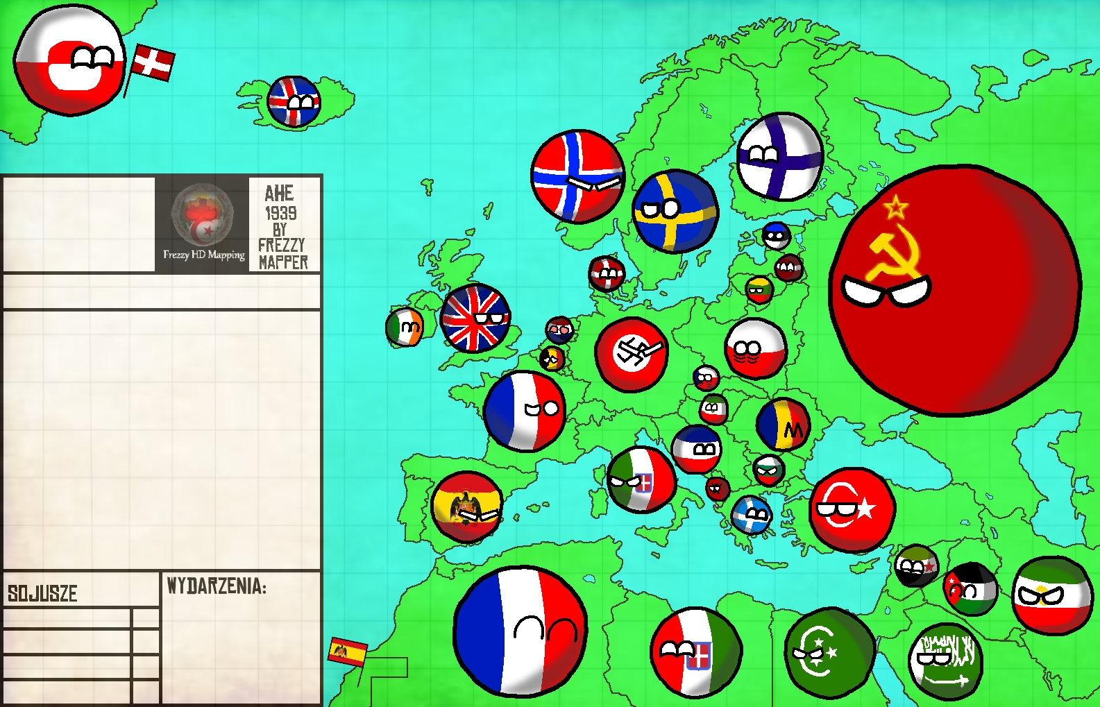 Image - Map Of Europe 1939 by Frezzy Mapper.jpg | TheFutureOfEuropes ...