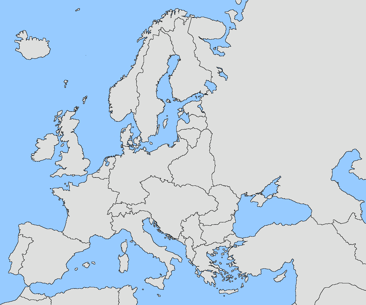 Europe Map 1918 Casami