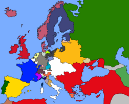 Map of Europe 1714