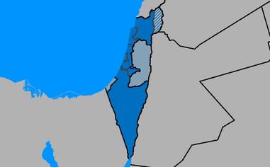 Map of Israel region