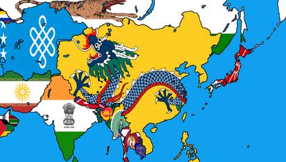 Alternate Asia Map 2