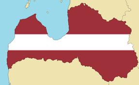 Blank Map of Latvia
