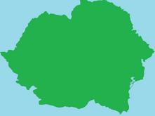 Romania Blank map main