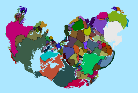 Pangaea with Modern countries and TACOS color scheme