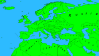 Alternate Future of Europe Map with HOI3 Letter style