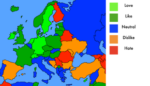 Evergreen Mapper's Opinion of European Countries