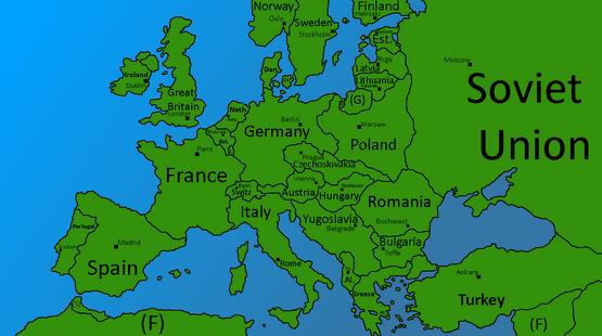 Post-WW1 Map