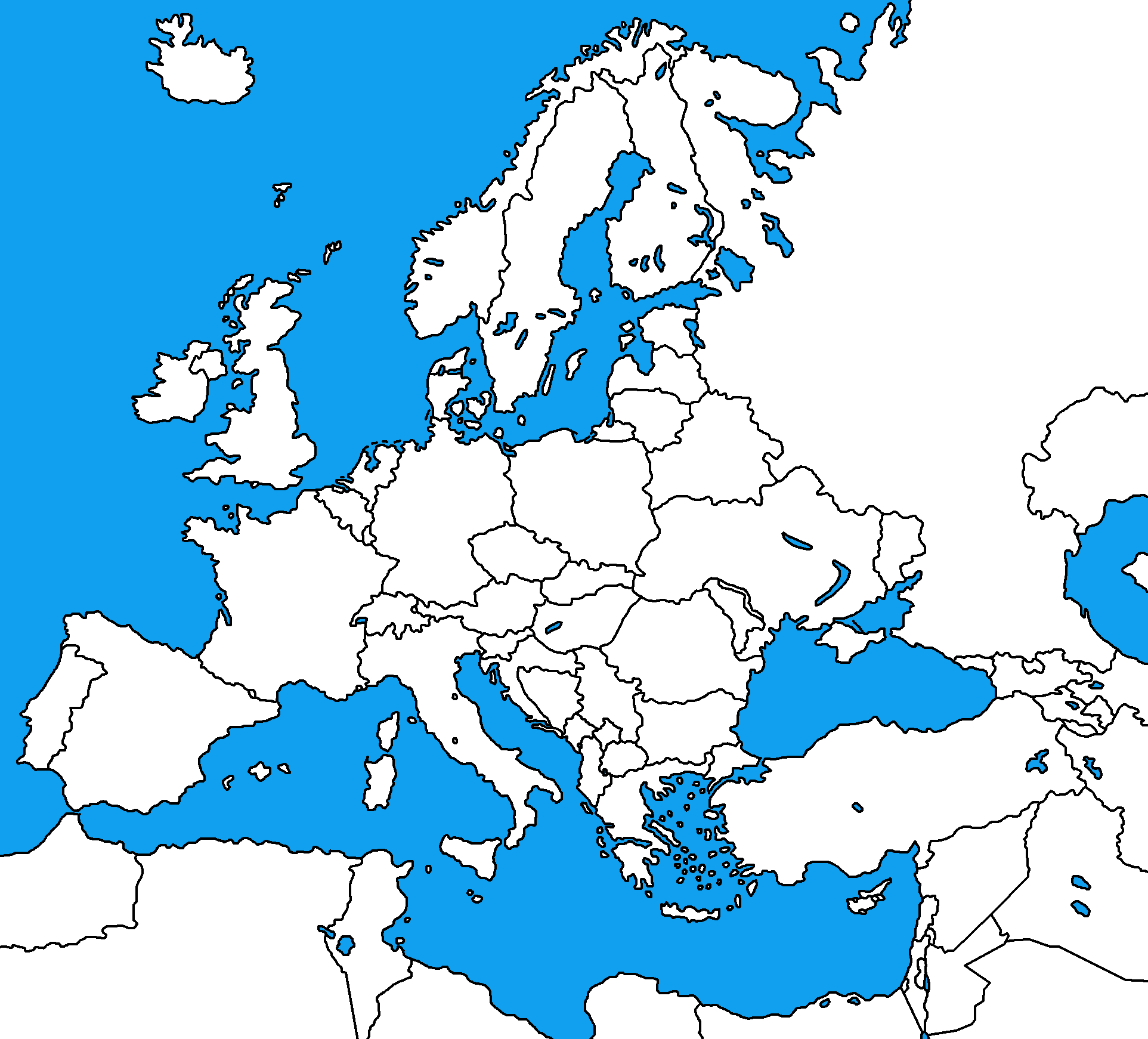 blank map of europepng