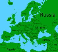 Europe with names (Calibri)