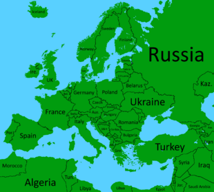 Europe with names (Calibri)