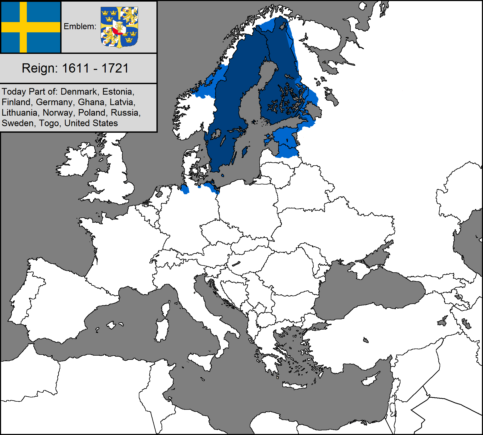 Image Blank Map Of The Swedish Empirepng TheFutureOfEuropes - Sweden blank map