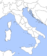 Map of Italian Regions