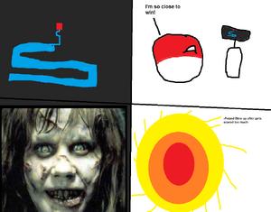 Poland plays scary maze
