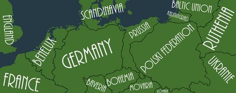 Mapa alternativo do norte da europa ( não muito norte )