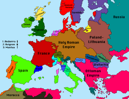 Map of Europe 1680 (VOE)