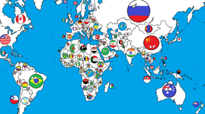 Polandball Map Of The World 2017.Maps For Mappers Countryball Style Thefutureofeuropes Wiki