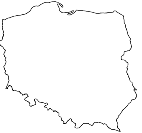 Blank map of Poland