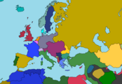 World War I map of europe