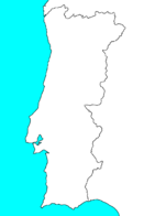 Blank Map of Portugal