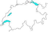 Blank map of Switzerland
