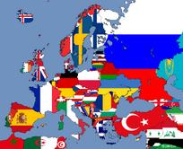 Flag map Europe