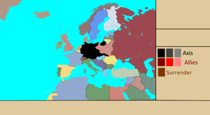 Alternative World War 2 in Europe Map