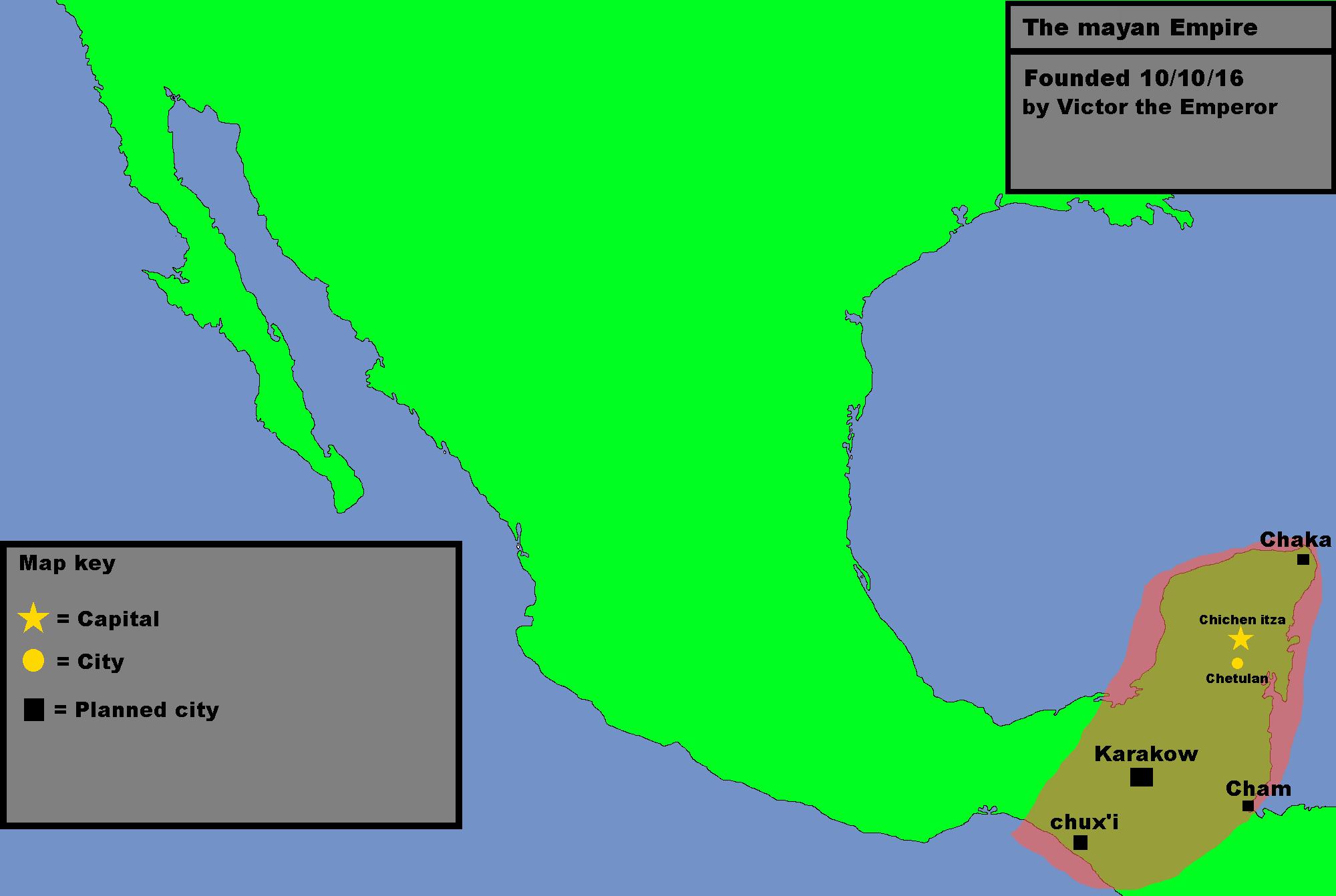 Image - Mayan Empire map.png | TheFutureOfEuropes Wiki | FANDOM ...