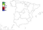 Spain Map Template