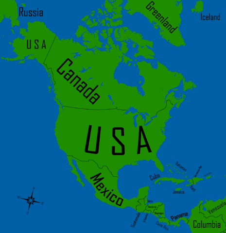 Image america map with countries and namesg fileamerica map with countries and namesg gumiabroncs Image collections